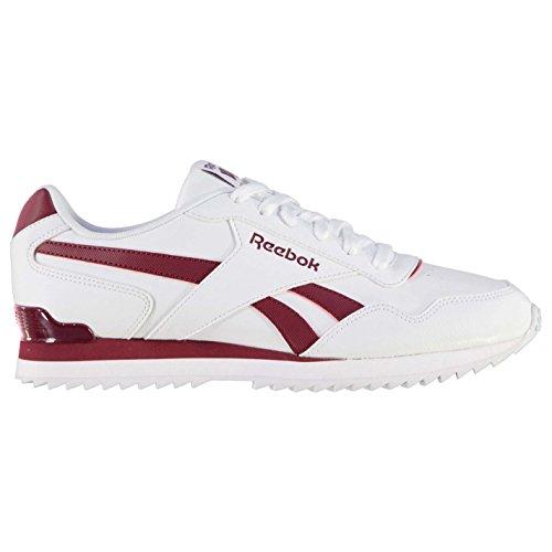 Reebok Herren Glide Rip Clip Turnschuhe Sportschuhe Sneaker Freizeit Schuhe White/Burgundy 6 (39)