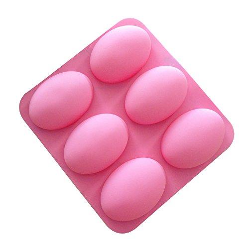 DaoRier Ei-Form Silikon-Tassen zum Backen von Kuchen Silikon-Muffin Formen Silikonformen Backen Silikonformen,1 Stück