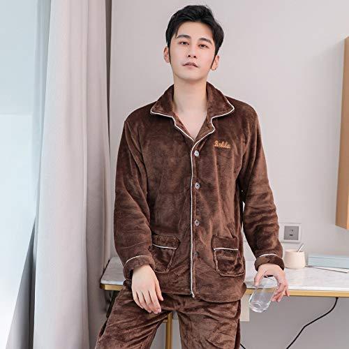 Handaxian Pijama de Franela para Hombres, Modelos Abiertos