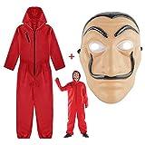 Costume La Casa De Papel, costume adulte dans une salle de papier de lin rouge, maison de papier pour costume de voleur costume de mascarade de fête d