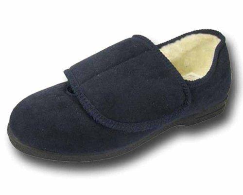 De la Mujer Coolers acogedora comodidad Extra ancho Eee lavable. Velcro ortopédico zapatillas, color morado, talla 40