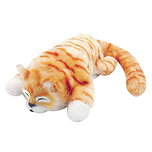 XuanAn Tumbling Cat Kids Plush Toy Electric Toys Laughing Turing Over Doll Cats Birthday Gifts (Yellow)
