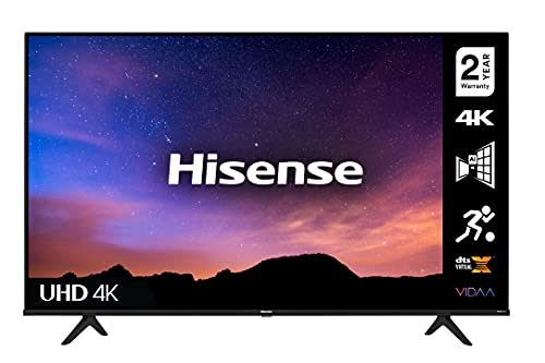 HISENSE 50A6GTUK (50 Inch) 4K UHD Smart TV, with Dolby Vision HDR, DTS Virtual X, Youtube, Netflix, Freeview Play and Alexa Built-in, Bluetooth and WiFi (2021 NEW)