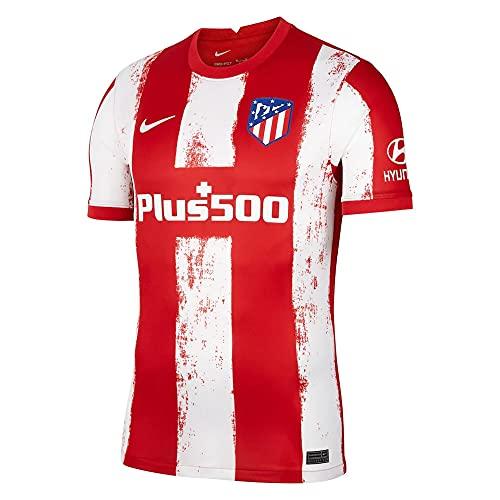 NIKE Atlético Madrid 2021/22 Stadium Home Camiseta, Sport Red/White, XXL para Hombre