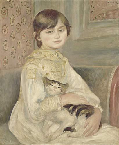 LWOHDKHK Pittura Diamante 5D Fai da Te Diamond Painting Kit Regalo di Compleanno per Adulto Bambini Aecorazioni Murali su Tela Julie Manet Pierre Auguste Renoir