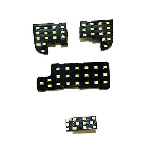 July King 4 Piezas LED Luces interiores de la lectura del coche para Accord 7th 2003-2007, 2835 LED Chips SMD, 6000K Blanco, Alto Brillo