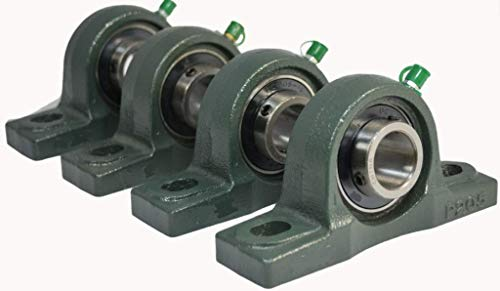 """4 Pcs UCP207-20 Pillow Block Mounted Bearing Unit 1-1/4"""" Compatible with AMI UCP 207-20, Compatible with Browning VPS-220 