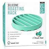 Silicone Roasting Rack For Pressure Cooker - Round Silicon Roasting Accessories Compatible With Oven, Crock...