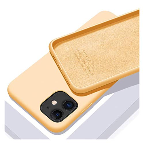 Funda Funda de Lujo de Silicona líquida Original Compatible con Apple iPhone 11 12 Pro MAX Mini 7 8 6 6s Plus XR X XS MAX 5 5S SE Funda a Prueba de Golpes Phone