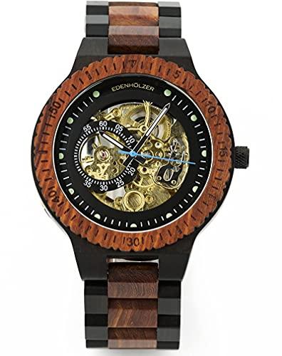 Edenhölzer Herren Armbanduhr Holzarmbanduhr Hardlex Automatik St. Vincent