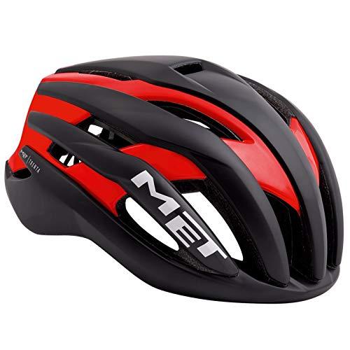 MET Trenta - Casco de Bicicleta - Rojo/Negro Contorno de la Cabeza...