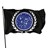 GRHTM United Federation of Planets Flag Outdoor 3x5 Feet Yard Flags Home Decor Banner Foot Polyester Fade Resistant Flag 3x5 Ft