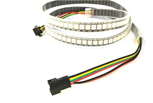 1M 144 Pixel/LEDs APA102 Waterproof IP67 Black PCB DC5V Individual Addressable Colour