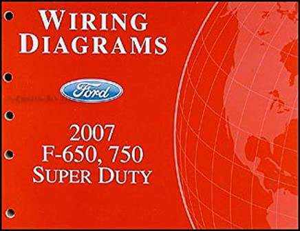 2007 ford f650-f750 super dutytruck wiring diagram manual original  paperback – 2007