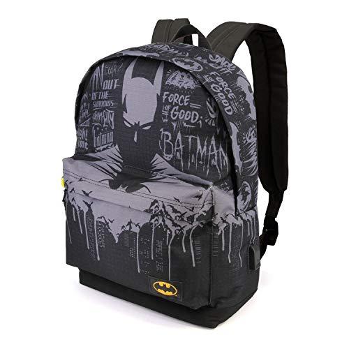 Karactermania Batman Gotham-zaino Hs Rucksack, 42 cm, 23 liters, Mehrfarbig (Multicolour)