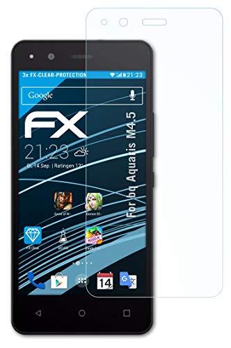 atFolix Schutzfolie kompatibel mit bq Aquaris M4.5 Folie, ultraklare FX Bildschirmschutzfolie (3X)