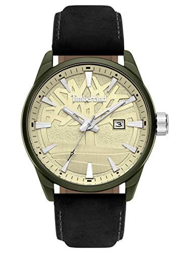 Timberland Reloj Analógico para Hombre de Cuarzo con Correa en Cuero TBL15576JLGN.14