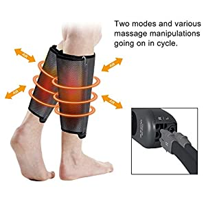 QUINEAR Air Compression Leg Massager for Circulation Calf Wraps Massage for Muscle Relaxation with Handheld Controller 2 Modes 3 Intensities