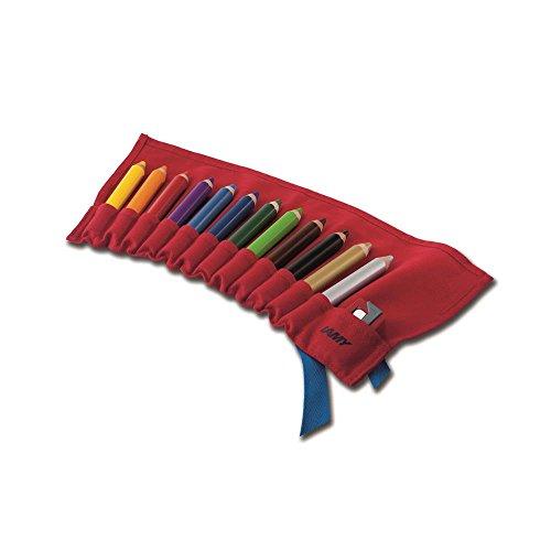 Lamy 1226066 3-Plus Farbstift Set Stoffrolle Modell Nummer W 419