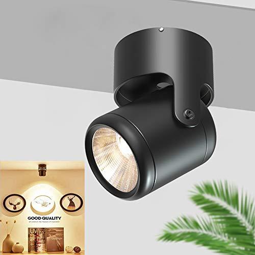 DLLT LED Spotleuchte Moderne Schwenkbar Wandspot Schwarz 3000K Warmweiß 7W 560 Lumen Deckenspot für Küche, Flur, Schlafzimmer, Kinderzimmer