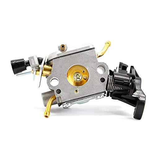 COSCANA Compatible para carburador Husqvarna 445450506450401401 E JONSERED CS2245S Sierra de cadena de carbono para motor Zama C1M-el37b