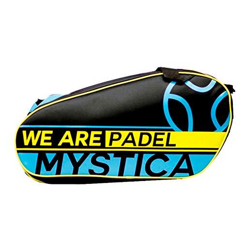 Mystica Ltd Negro Y Azul Paletero pádel, Juventud Unisex, 70 x 30 x 15