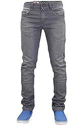 Mens Jeans Zip Fly Mens Slim Fit Jeans Mens Stretch Jeans Trouser Pants Garment Care: 40 Degree Machine Washable 97% Cotton & 3% Lycra