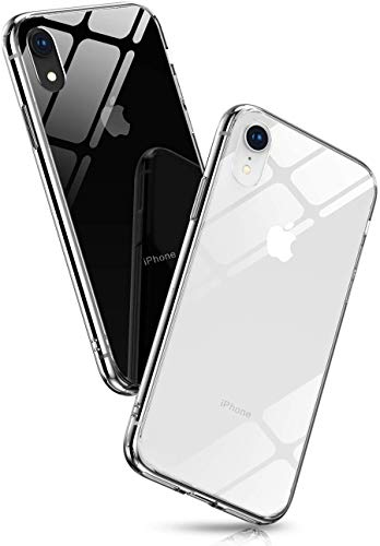 iPhone XR Case, iPhone XR Clear Case, Slim Phone Case for Apple iPhone XR 6.1 inch Crystal Transparent Anti-Scratch, Coverage for Apple XR Glass Cover, TPU Bumper