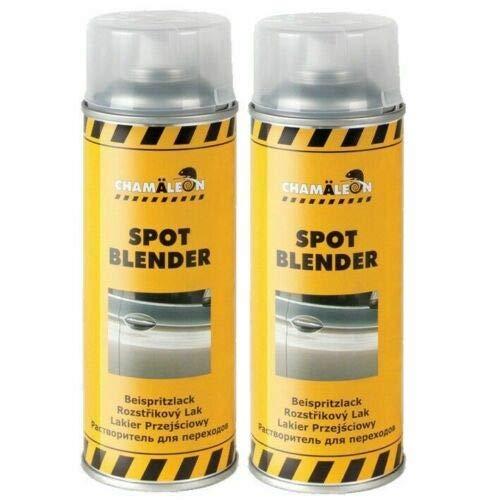 Chamäleon 1K Beispritzlack 2 x 400ml Spray Spot Blender Lack Repair Verdünnung