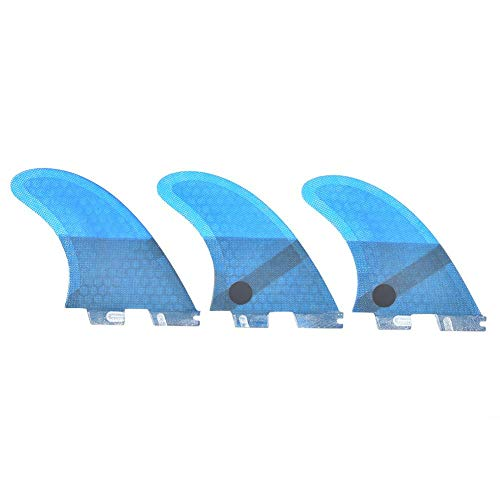 VGEBY Tabla de Surf Aleta Fibra de Vidrio FCS2 Elegante Conveniente Azul Tabla de Surf Aleta de Cola Accesorio de Surf Estable y Flexible