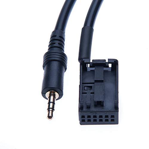 Cavo per Adattatore di Ingresso AUX da 3,5 mm Compatibile con Auto Car B M W E39 Z4 E85 X3 E53 E83 E60 E61 E63 E64, MINI COOPER a MP3 MP4 / Telefono, Radio, Smartphone
