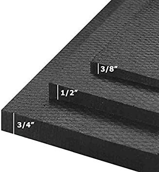 Durable Rubber Flooring Solid Black 1 Border Tile 1//2 Thick Stable//Horse Tiles American Floor Mats Thick Heavy Duty Stall Tiles