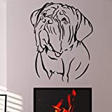 JXWR Art Déco PVC Amovible Animal Sticker Mural Home Decor Salon Autocollant Bordeaux Mur De Chien 76 x 58 cm