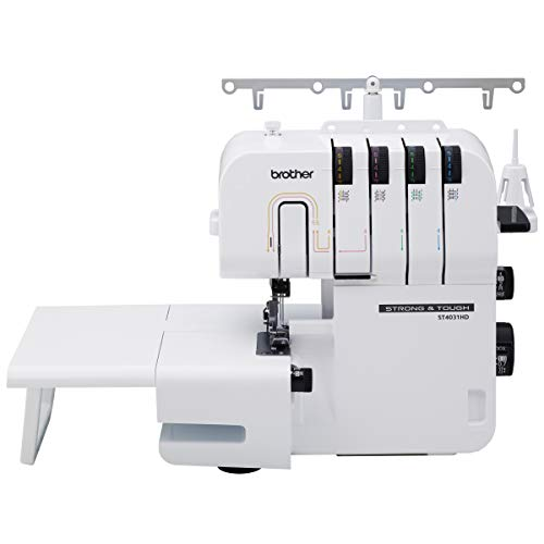 Brother, ST4031HD, Strong and Tough Serger 1,300 Stitches Per Minute, Durable Metal Frame Overlock Machine, Large Extension Table