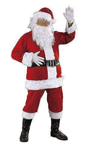 Rubies, Disfraz de Papá Noel Luxe AD Completo Unisex, Disfraz Original para Navidad, Niños y Adultos, Talla Única