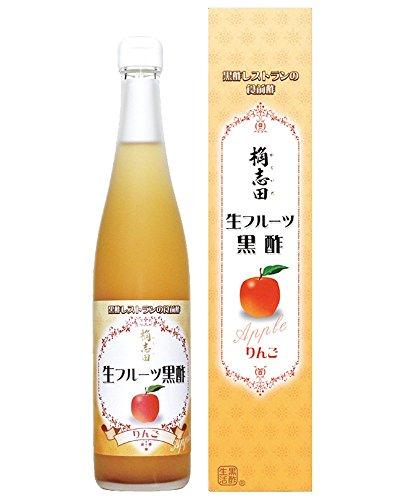 福山黒酢 桷志田 フルーツ黒酢りんご 瓶500ml