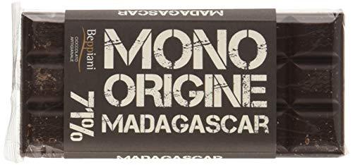 Beppiani - Tavolette di CIOCCOLATO FONDENTE Extra 71% - MONORIGINE 500 g -MADAGASCAR- CIOCCOLATO ARTIGIANALE – Set da 5 tavolette – MADE IN ITALY (Fondente 71%)