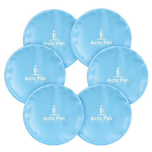 Arctic Flex XL Round Ice Pack - Soft Gel Compression Icepack - Hot and Cold for Headache, Eye Puffiness, Wisdom Teeth, Breastfeeding Relief - Reusable for Kids, Men, Women - Flexible Pad