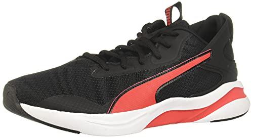 PUMA Softride Rift, Zapatillas para Correr de Carretera Hombre, Negro Black/High Risk Red, 42 EU