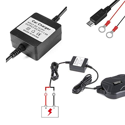 MUXAN Caricabatterie per GPS Tracker, Car Charger adapter Portatile da auto per GPS GSM Tracciatore Localizzatore TK905 TK905B TK915 TK901 TK902 etc,YS128