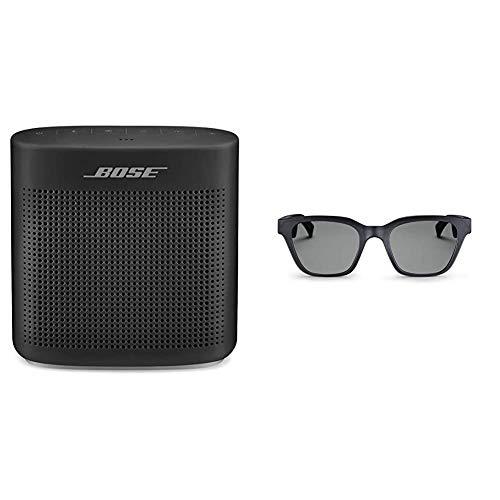 Bose SoundLink Color II Diffusore Bluetooth 4.2, Nero + Occhiali da Sole con Audio Frames, Alto S/M