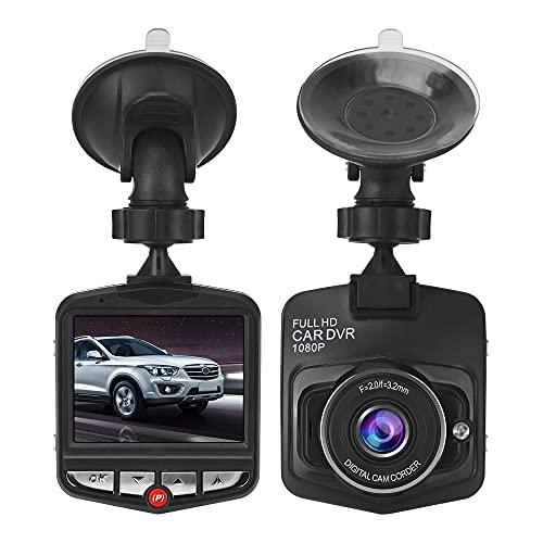 CuiGuoPing Mini cámara para salpicadero de coche, 1080P, Full HD, pantalla LCD de 2,7 pulgadas, gran angular de 170°, grabación en bucle, sensor G, visión nocturna (con tarjeta de memoria de 64 GB)