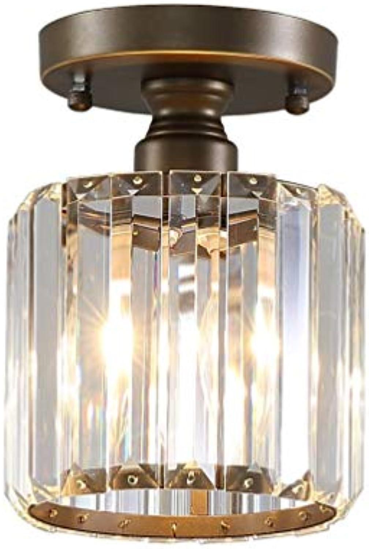Zhang Ying ZY E27 Crystal Deckenleuchte American Simple Balkon Gang Korridor Crystal Light