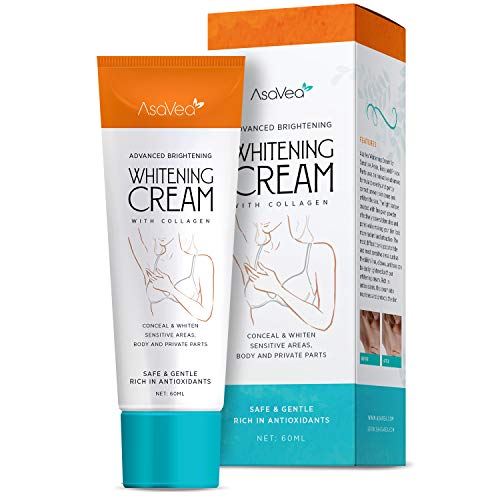 AsaVea Whitening Cream - Brightens Nourishes Moisturizes Underarm, Neck, Knees, Elbows, Between Legs...