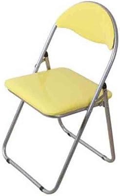 YCSD Desk Chair Dining Chair Computer Sedia, Pieghevole, PU Spugna Morbida Pad (Colore : Giallo)