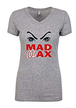 Shedd Shirts Grey Washington Mad Max Ladies V-Neck T-Shirt Adult