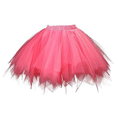 Aiserkly 50er Jahre Retro Tutu Tüllrock Damen Vintage Petticoat Reifröcke Unterrock für Rockabilly Kleid Festliches Kleid Brautkleid Ballkleid Mini Kleid Empire M