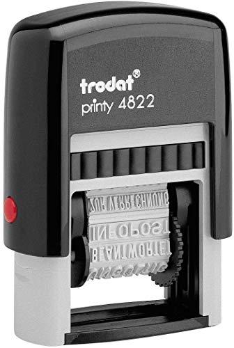 Trodat Timbro Printy 4822 Autoinchiostrante Polinome Italiano – Multi-Parole, Nero