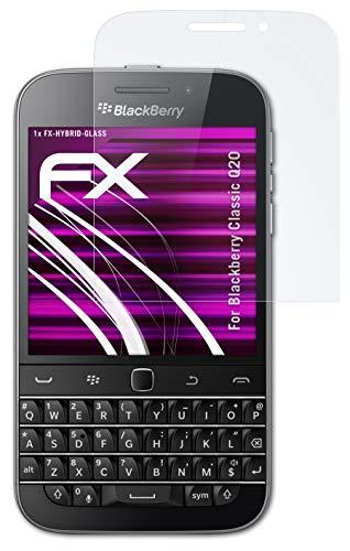 atFolix Glasfolie kompatibel mit BlackBerry Classic Q20 Panzerfolie, 9H Hybrid-Glass FX Schutzpanzer Folie