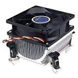 Foxconn CMI-775-14B Socket 775 Heat Sink and Fan to 3.4 GHz General Features: Aluminum heat sink Heat Sink dimension: 95 (3.74-inches) x 95 x 75 mm 80 (3.14-inches) x 80 x 25 mmsleeve bearing fan Speed: 2900ñ 10% RPM Air Flow: 39.8 CFM Noise: 28 dBA ...